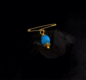 22k gold evil eye pin